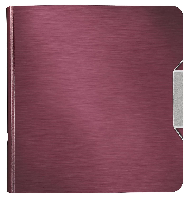 Leitz, Archivador de Palanca, Rojo Granate, A4, Lomo curvado de 8 cm ancho, Cierre con Goma elástica, Polyfoam Ligero, Active Style, 11080028: Amazon.es: ...