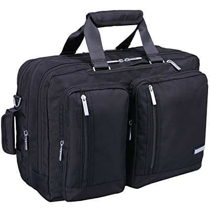 Ronts Mens Briefcase 3 in 1 Backpack Waterproof Nylon Convertible  Multifunctional 17 Inch Laptop Shoulder Bag 5055918bfe7eb