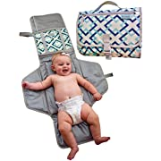 Dipurse Portable Changing Pad Diaper Changing Station | 41 inches x 23 inches | Stylish Trendy Design | Sturdy Material - Easy to Wash for Baby Shower Registry