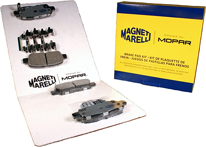 Magneti Marelli by Mopar 1AMF21691A Semi-Metallic Rear Disc Brake Pad Kit 4 Pack