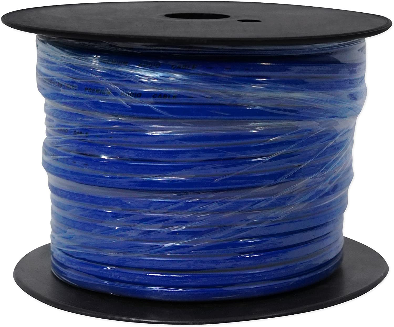 Rockville R14G500MS-BL 500 Foot Spool Marine Waterproof 14 AWG Speaker Wire Blue