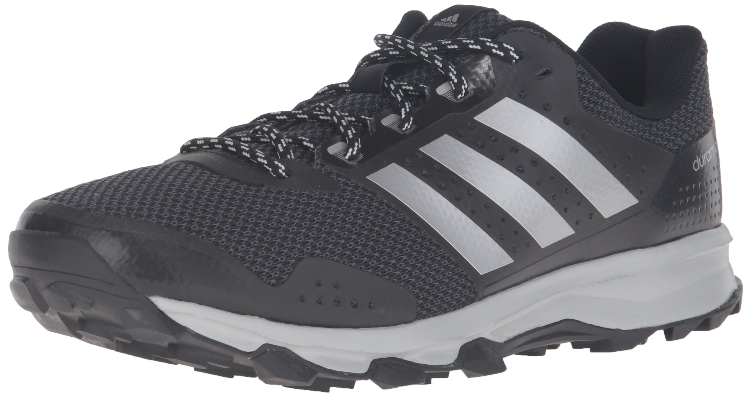 adidas Men's Duramo 7 m Trail Runner, Black/Metallic/Silver/Light Onix, 10 M US
