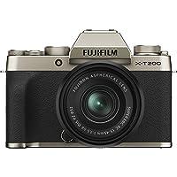 Fujifilm X-T200 Mirrorless Digital Fujifilm X-T200 Mirrorless Digital Camera with 15-45mm Lens, Champagne Gold (16646430…