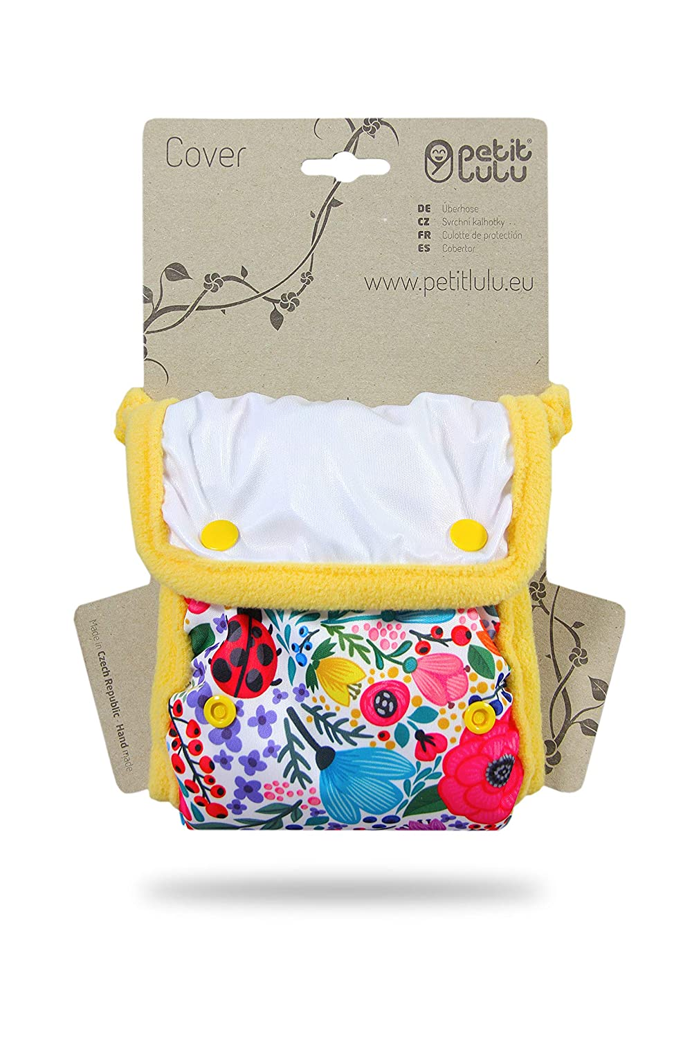 Reusable /& Washable ETNO EC Nappy Waterproof Petit Lulu Minimal Nappy Cover Made in Europe