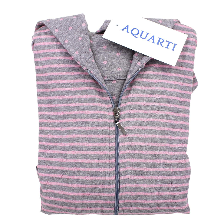 Aquarti Peignoir pour Femme avec Zip et Capuche