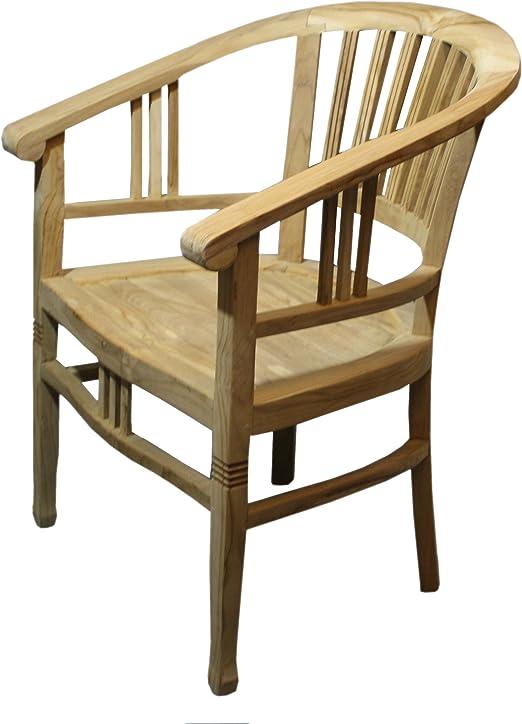 Ambiente reposabrazos de Teca, Silla, sillas de jardín, Lounge Silla Silla Colonial betawi: Amazon.es: Juguetes y juegos