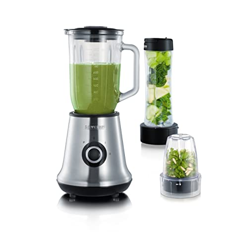 Severin SM 9479 Multimixer, Smoothie Mix & go y picadora, 400 W, 2