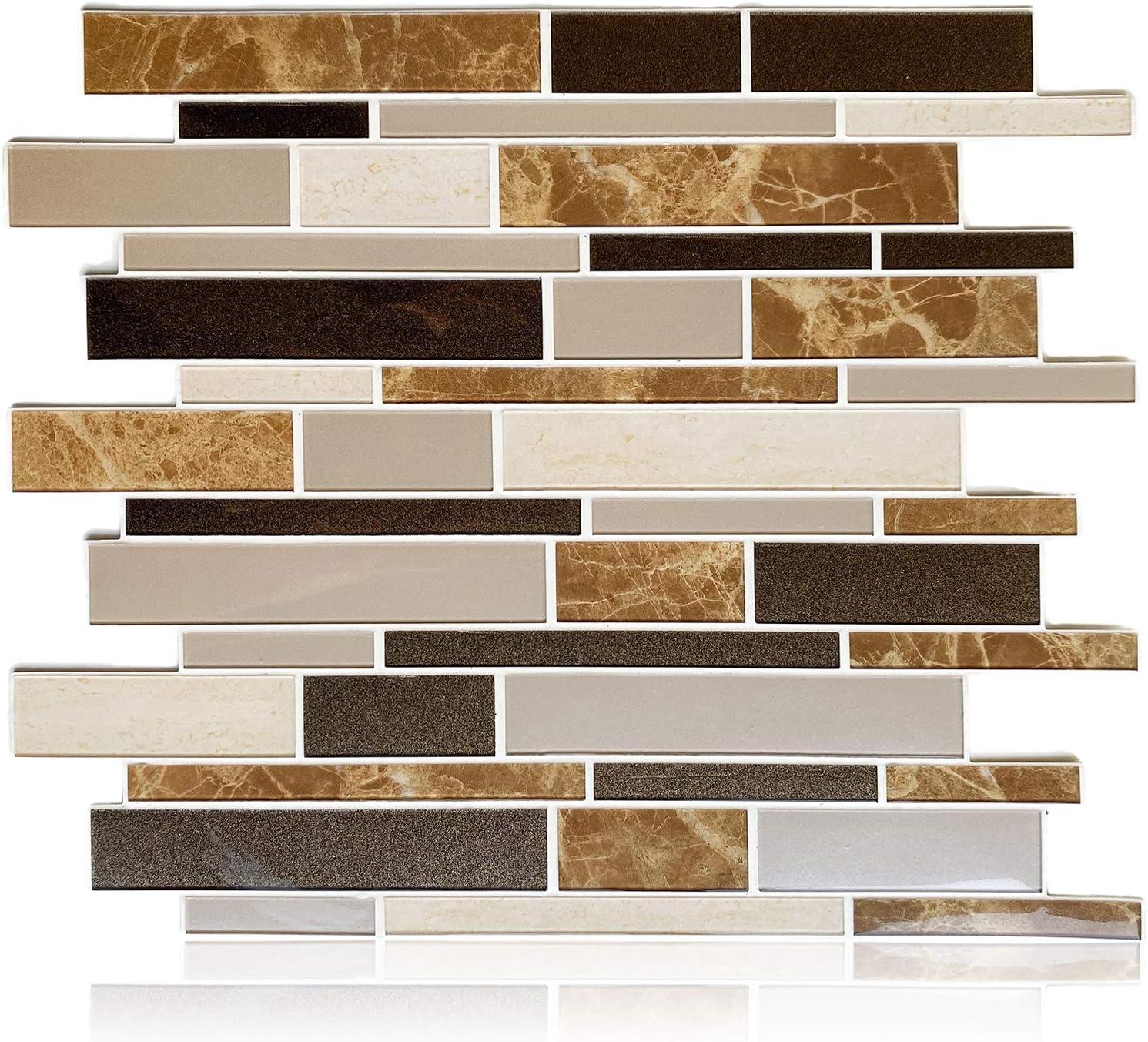 - Amazon.com: HomeyMosaic Peel And Stick Backsplash Tile 3D Wall