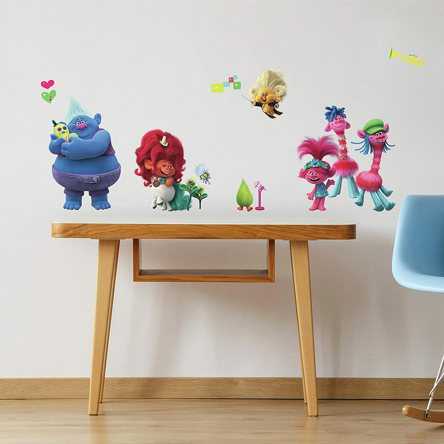 RoomMates Trolls World Tour Peel and Stick Wall Decals