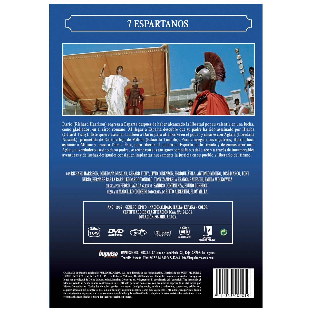 Amazon.com: 7 Espartanos (Import Movie) (European Format ...