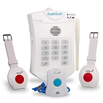 Amazon suresafe personal alarms 1 pendant 1 wristband 1 suresafe personal alarms 1 pendant 1 wristband 1 free spare wristband oap fall care aloadofball Gallery
