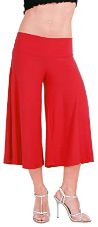 Amazon.com: Stretch Gaucho Pants with Banded Waist from Hot Fash ...