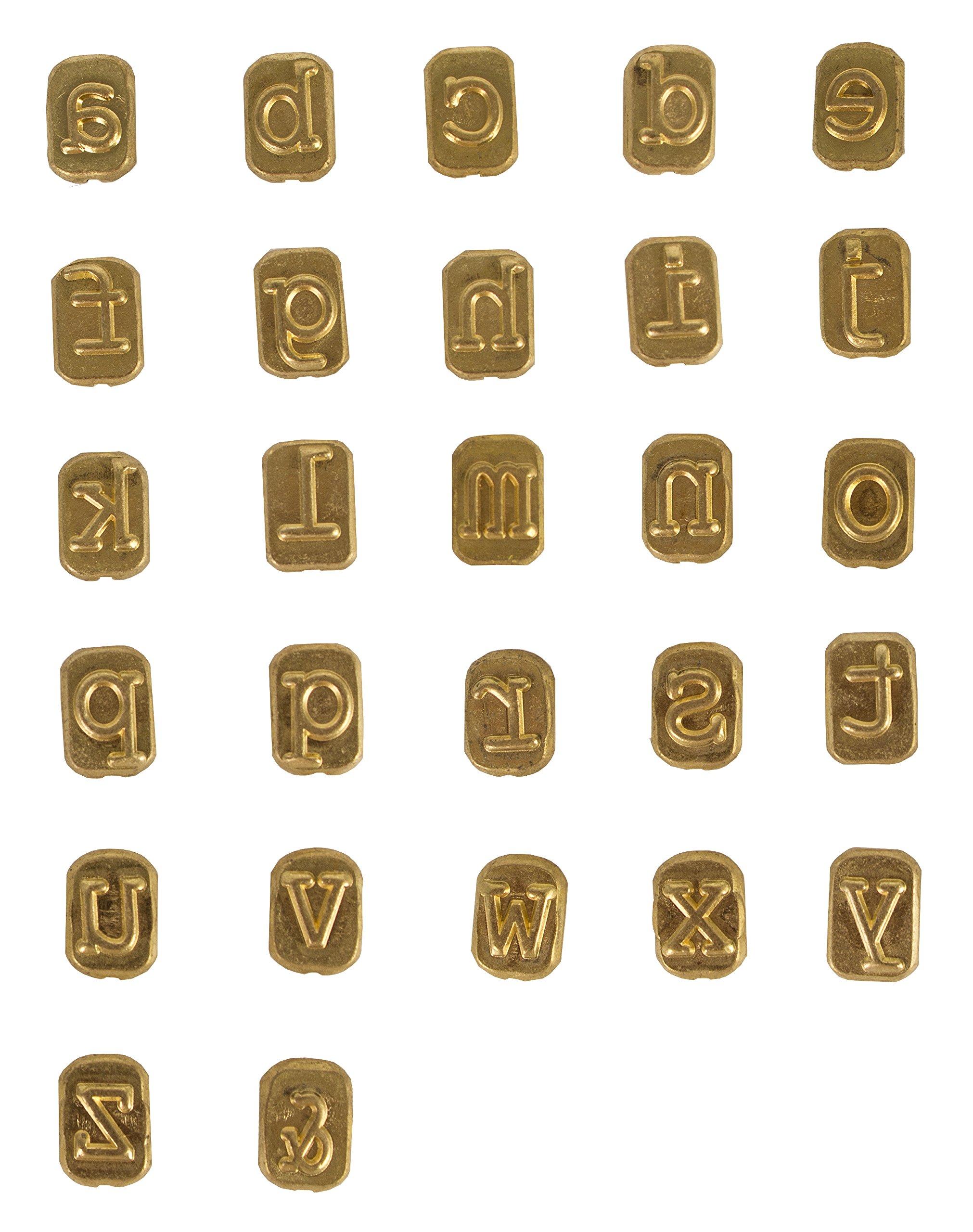 Walnut Hollow Mini Hotstamps Lowercase Alphabet Branding and Personalization Set for Wood, Leather and Other Surfaces