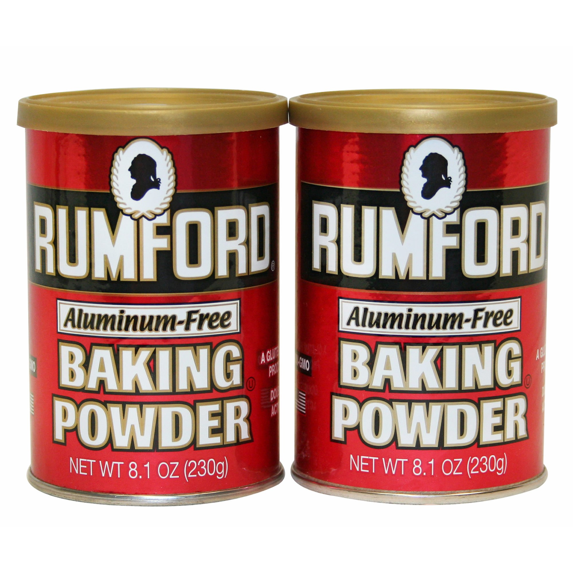 Rumford Aluminum-Free Baking Powder, 2 pk./8.1 oz. (pack of 6)