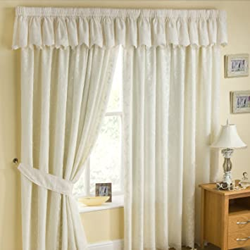 Cream Lace Lined Curtains 46