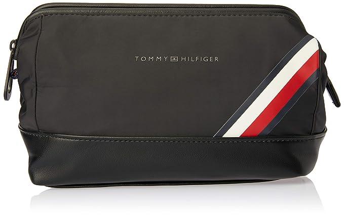 b38aa53ebd TOMMY HILFIGER Easy Nylon Framed Washbag Black  Amazon.co.uk  Shoes ...