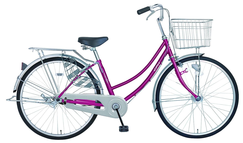 marukin(マルキン) 完全組立 26インチ自転車 LEDオートライト B077YFTK72 ダークピンク ダークピンク