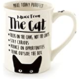 Enesco 6000546 Our Name is Mud Stoneware Coffee Mug, 16 oz, White Advice from The Cat 16 oz White