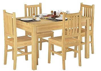90 70 53 set schone essgruppe mit tisch und 4 stuhlen kiefer massivholz esstisch