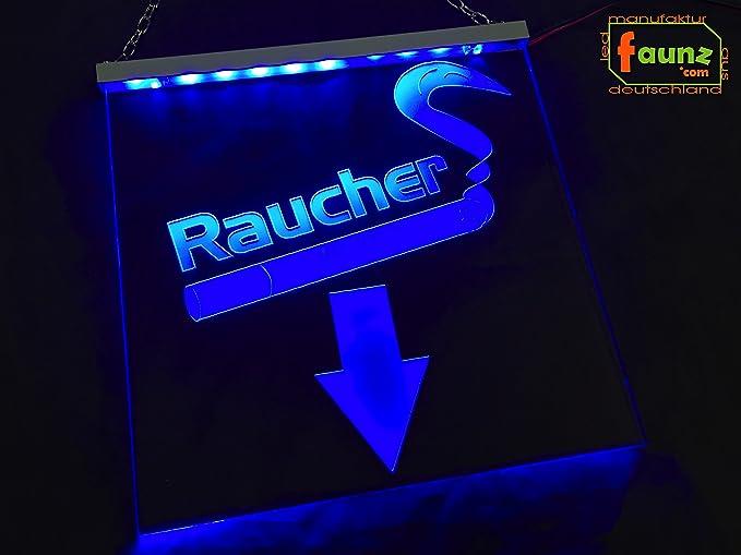 fumadores + LED Cartel Símbolo Azul en Selector de color con ...