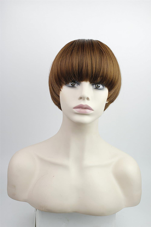 Halloween Costume Ideas For Girls With Short Hair.Amazon Com Short Hair Wig Straight Flat Bang Short Bob Halloween