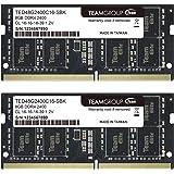 TEAMGROUP Elite 16GB Kit (2 x 8GB) DDR4 2400MHz (PC4-19200) CL16 Unbuffered Non-ECC 1.2V SODIMM 260-Pin Laptop Notebook PC Co