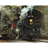 Springbok Alzheimer & Dementia Jigsaw Puzzles - Green Mountain Express - 100 Piece Jigsaw Puzzle - Large 23.5 Inches by 18 Inches Puzzle - Made in USA - Extra Large Easy Grip Pieces