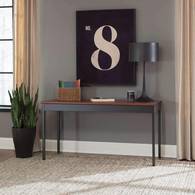 Heavy-Duty Utility Table//Work Desk for Office Space w//Scratch-Resistant Paint 24 W x 60 L Maple Laminate