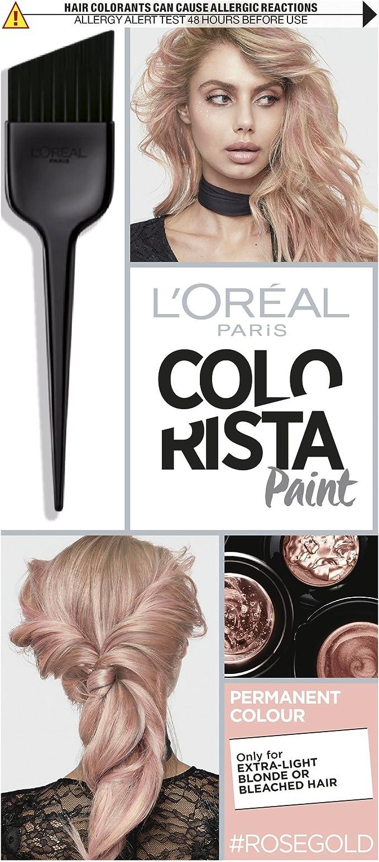 L Oreal colorista pintura oro rosa permanente tinte de pelo