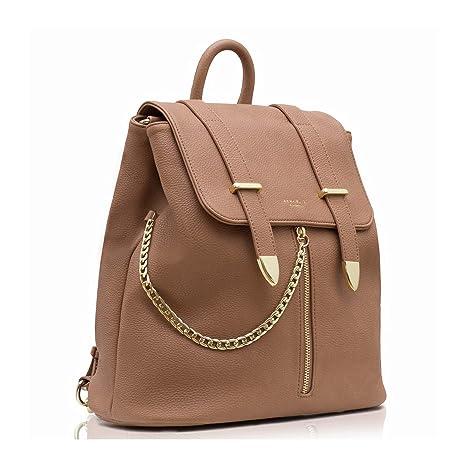625c6f2cdc415 LaBante - Damen Rucksack - Agnes - braun Rucksäcke für Frauen Mädchen  Backpack Tagesrucksack Daypack Schultertaschen