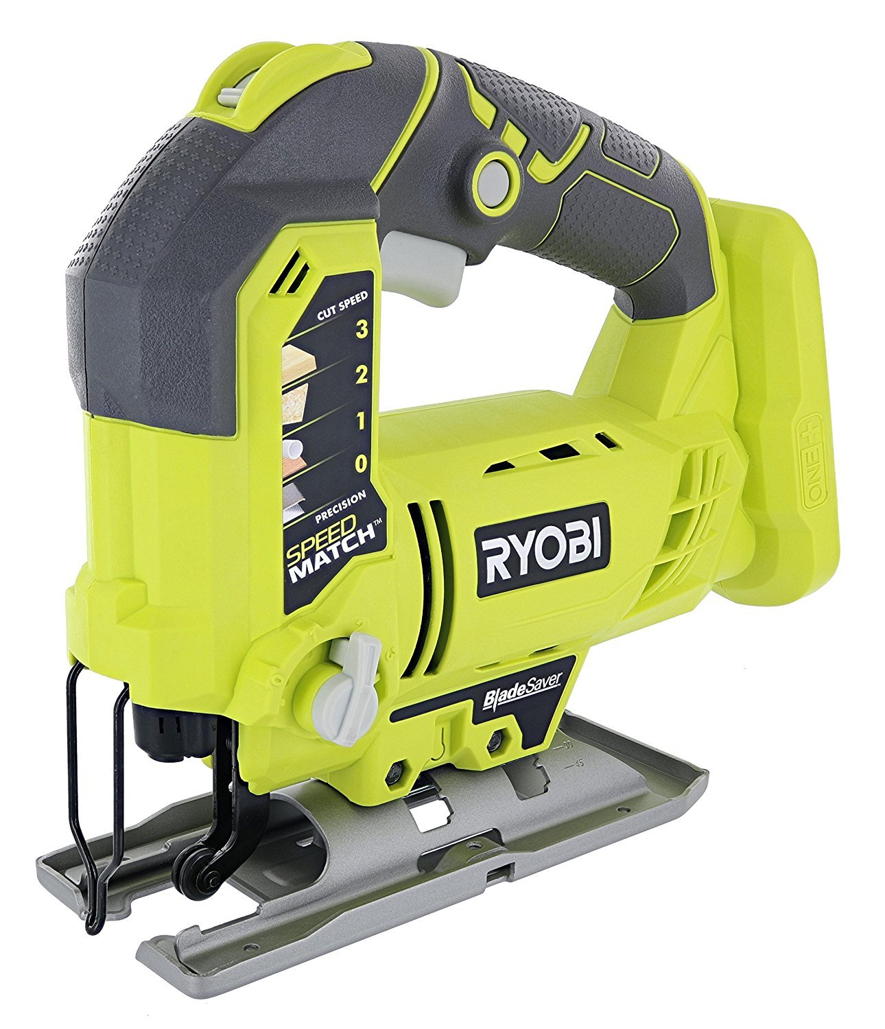 Ryobi One P523 18V Lithium Ion Cordless Orbital T Shank 3,000 SPM Jigsaw Battery Not Included, Power Tool and T Shank Wood Cutting Blade Only