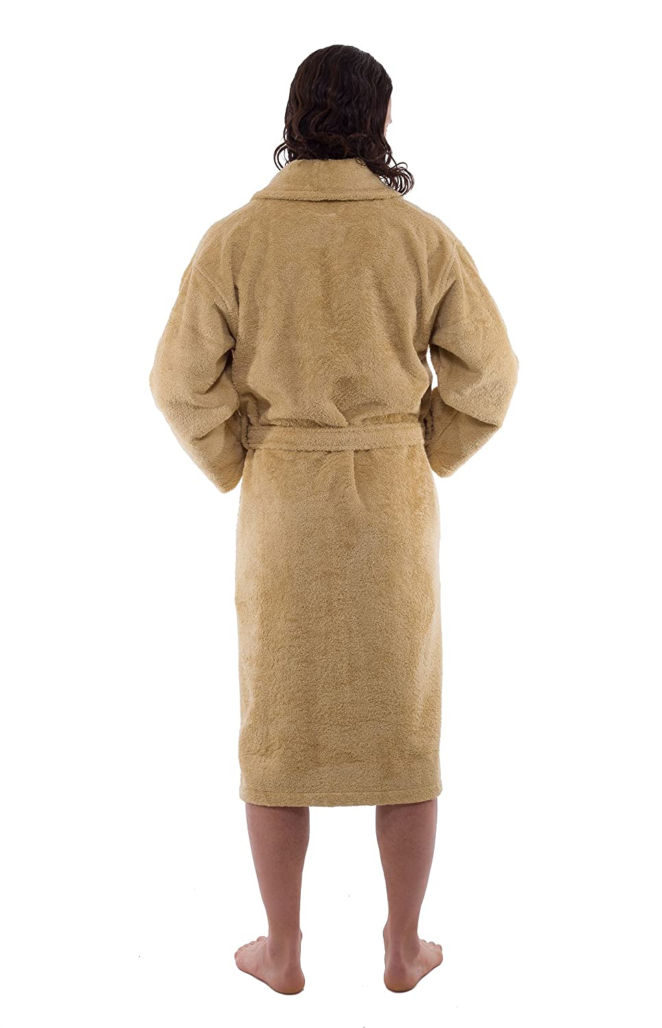 c753a9db6d Amazon.com  Luxury Terry Cloth Bathrobes - Premium Hotel and Spa Robes Made  with 100% Turkish Cotton  Home   Kitchen