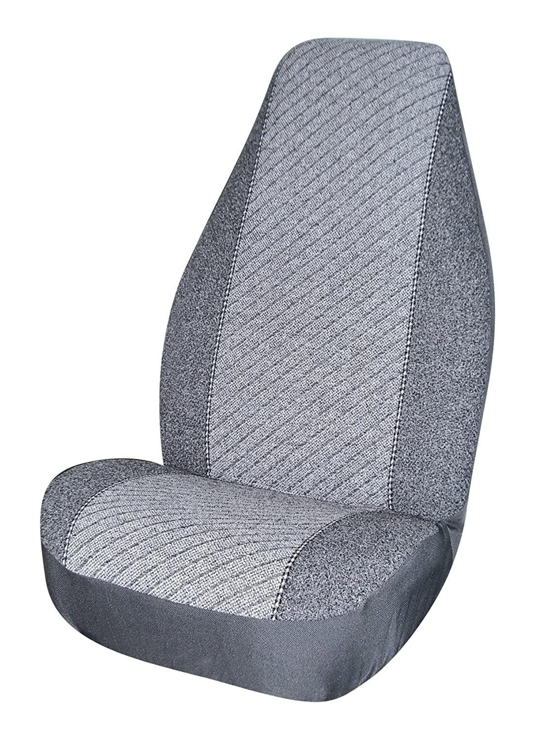 Pack of 2 Allison 67-0526GRY Gray Super Tweed Universal Bucket Seat Cover