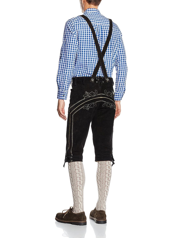 Gaudi-leathers Mens German Trachten Lederhosen Trousers Long
