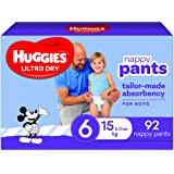 Huggies Ultra Dry Nappy Pants, Boy, Size 6 (15+kg), 92 Count, Packaging May Vary, Size 6 (15kg and over) 92 count, Pack…