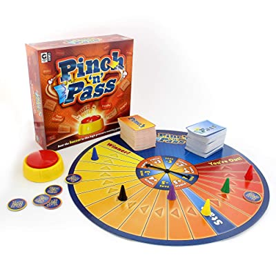 Ginger Fox Pinch 'N' Pass Family Board Game - How Many Actors, Pizza Toppings Can You Name Under Pressure - Tense Game: Toys & Games