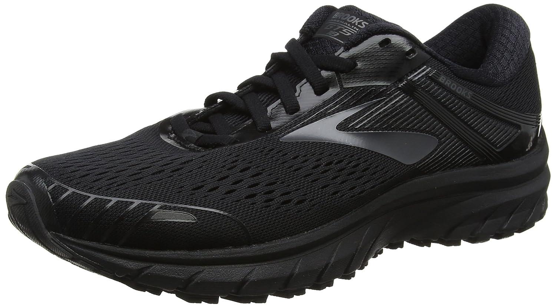 Brooks Men's Adrenaline GTS 18 Running Shoe Wide 2E B072F81PVX 7.5 M US|Black/Black
