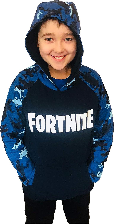 Blue Camo Fortnite Hoodie