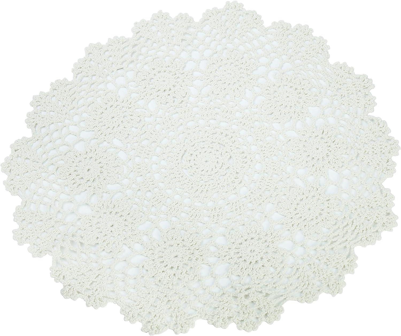BULK PACK Black Crochet Cotton Round Doily 25cm x 10 pcs