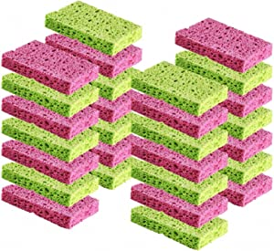 Cleaning Scrub Sponge by Scrub-it - Scrubbing Dish Sponges Use for Kitchens, Bathroom & More - 24 Pack -Colors May Vary-