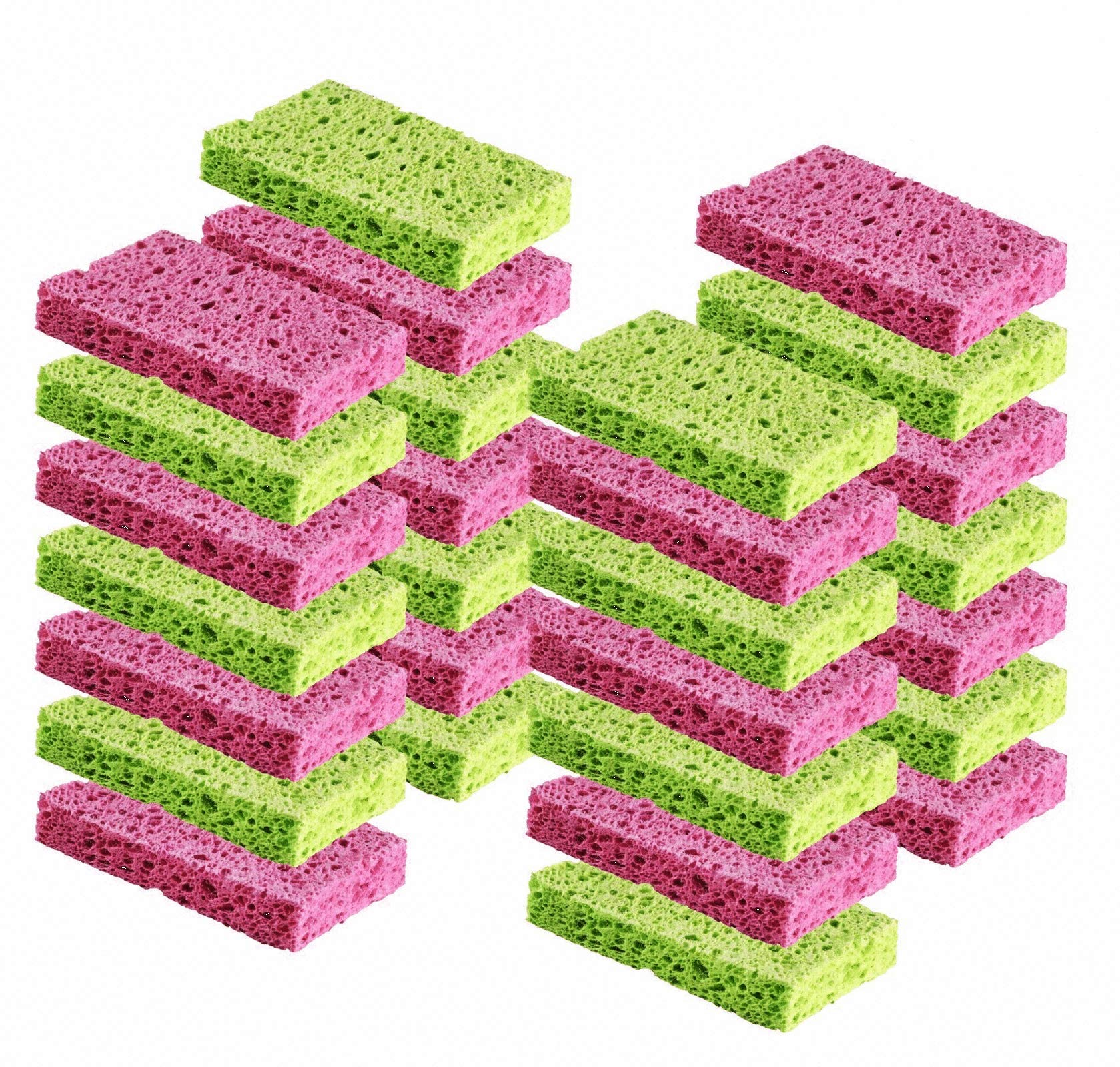 Cleaning Scrub Sponge by Scrub-it - Scrubbing Dish Sponges Use for Kitchens, Bathroom & More - 24 Pack -Colors May Vary- by Scrub-It