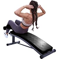 Finer Form Sit Up Bench with Reverse Crunch Handle for Ab Bench Exercises - Abdominal Exercise Equipment with 3…