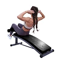 Finer Form Sit Up Bench with Reverse Crunch Handle for Ab Bench Exercises - Abdominal Exercise Equipment with 3 Adjustable Height Settings