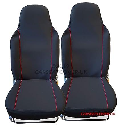 FIAT FIORINO VAN FABRIC BLACK /& RED TRIM CAR SEAT COVERS 2 X FRONTS