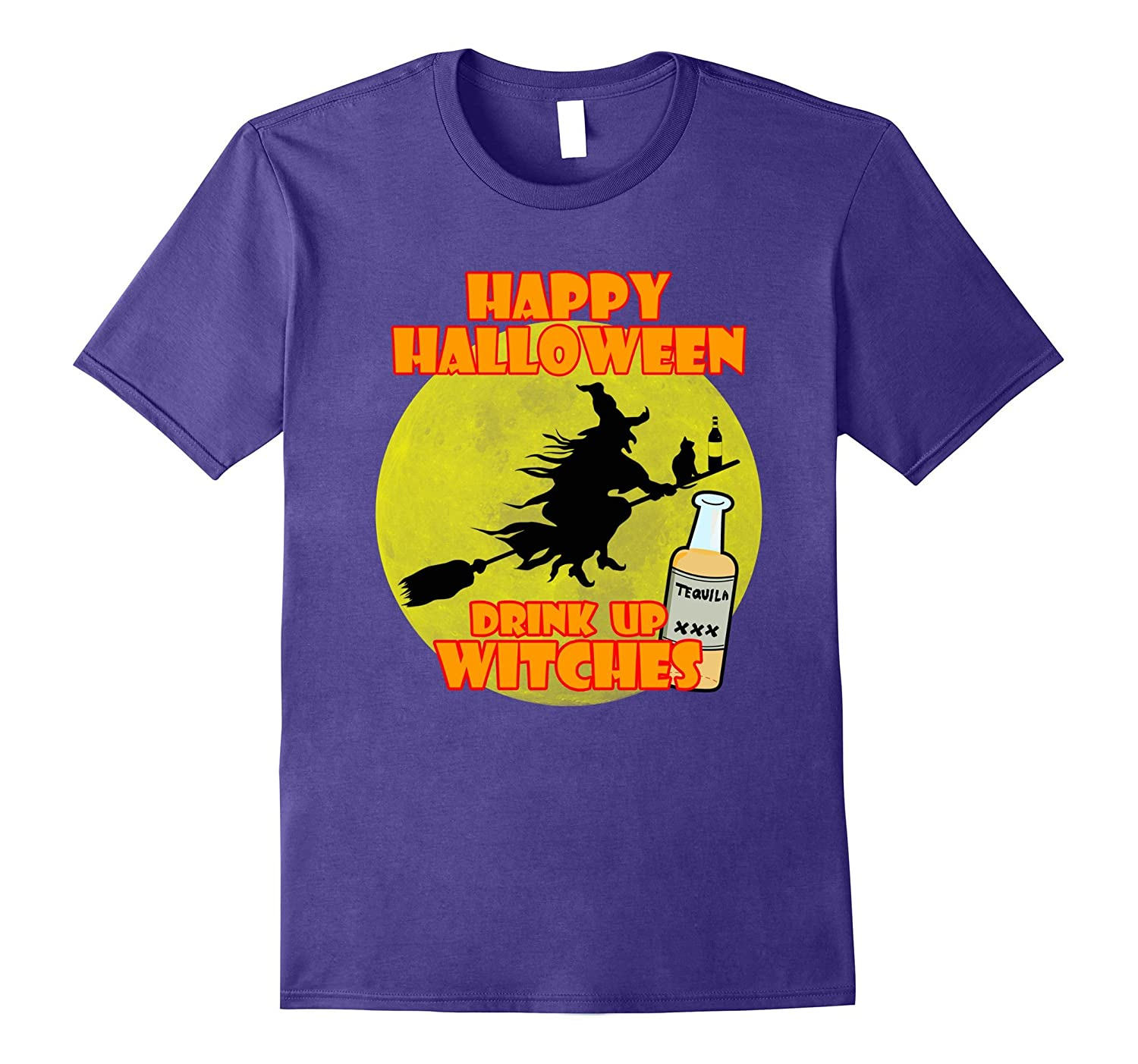 Womens Halloween Drink Up Witches Funny Shirt-FL