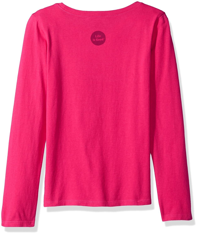 Life is Good G Long Sleeve Girls Tee Penguin Family Poppnk T-Shirt,