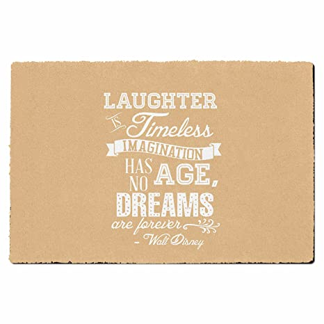 Amazon Com Laughter Is Timeless Walt Disney Quote Orange Small