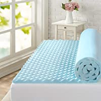 Zinus Swirl Cool Gel Convoluted Memory Foam Air Flow Mattress Topper Protector 4cm - Double Size