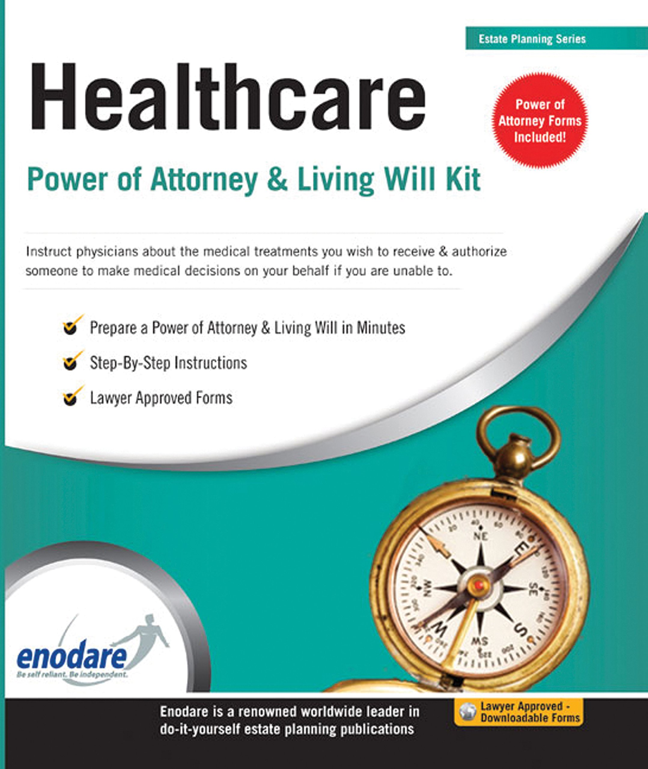 Healthcare Power Of Attorney Living Will Kit Enodare