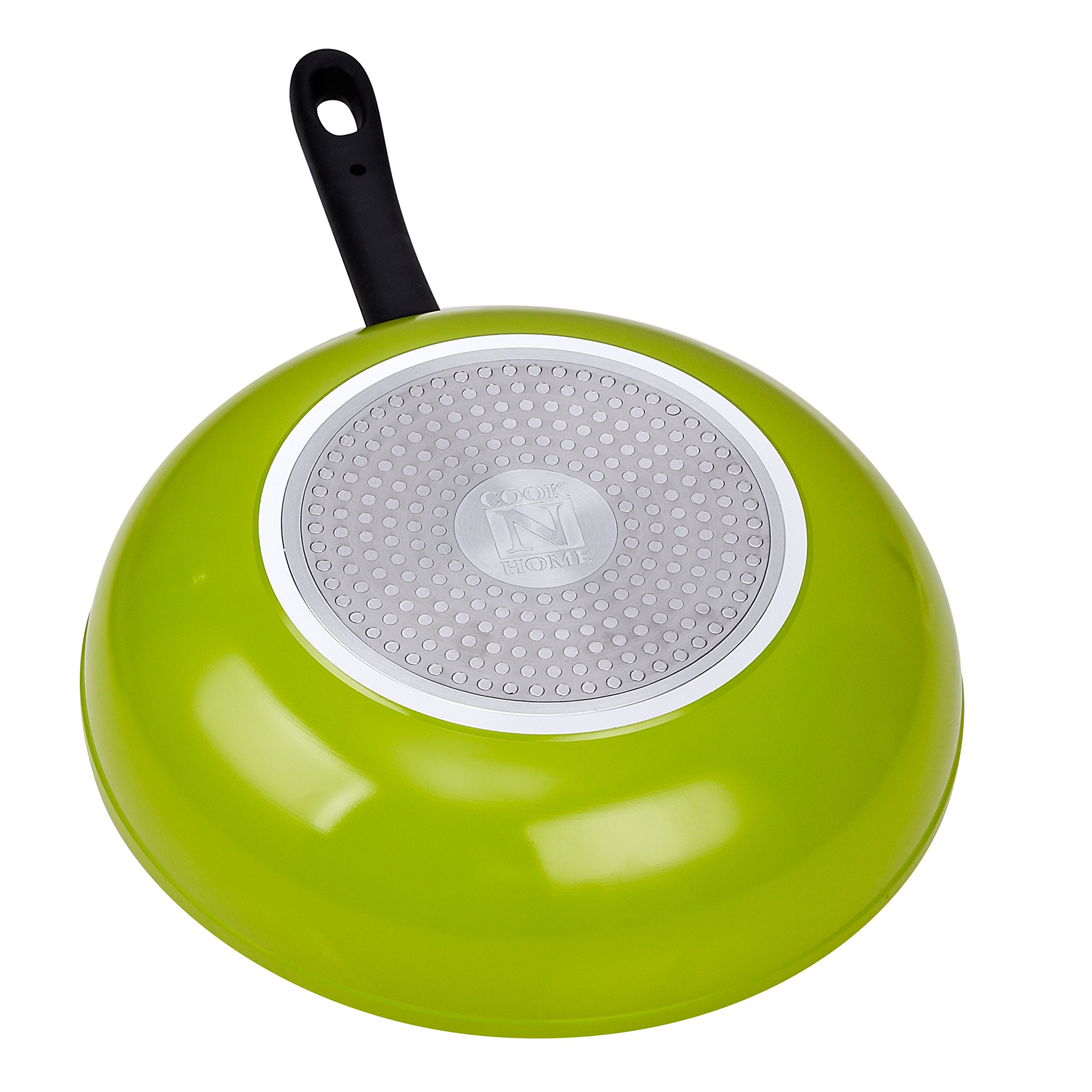 Cook N Home 12-Inch Nonstick Stir Fry Wok Pan, Green, 30cm by Cook N Home (Image #2)
